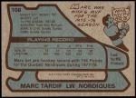 1979 Topps #108  Marc Tardif  Back Thumbnail