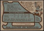 1979 Topps #239  Real Cloutier  Back Thumbnail