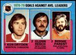 1979 Topps #6   -  Ken Dryden / Glenn Resch / Bernie Parent Goals Against Leaders Front Thumbnail