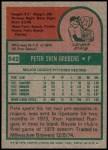 1975 Topps #542  Pete Broberg  Back Thumbnail
