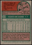 1975 Topps #252  Fred Scherman  Back Thumbnail