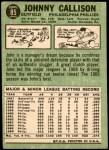 1967 Topps #85  Johnny Callison  Back Thumbnail