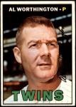 1967 Topps #399  Al Worthington  Front Thumbnail