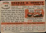 1956 Topps #77  Charley Conerly  Back Thumbnail