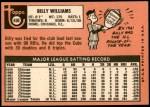 1969 Topps #450  Billy Williams  Back Thumbnail