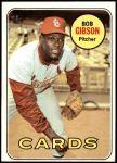 1969 Topps #200  Bob Gibson  Front Thumbnail