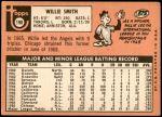 1969 Topps #198  Willie Smith  Back Thumbnail