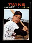 1971 Topps #607  Paul Ratliff  Front Thumbnail