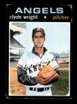 1971 Topps #240  Clyde Wright  Front Thumbnail