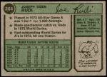 1974 Topps #264  Joe Rudi  Back Thumbnail
