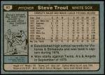 1980 Topps #83  Steve Trout   Back Thumbnail