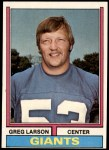 1974 Topps #51  Greg Larson  Front Thumbnail