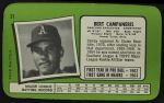 1971 Topps Super #31  Bert Campaneris  Back Thumbnail