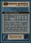 1981 Topps #16  Wayne Gretzky  Back Thumbnail