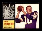 1962 Topps #90  Fran Tarkenton  Front Thumbnail