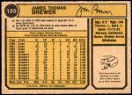 1974 O-Pee-Chee #189  Jim Brewer  Back Thumbnail