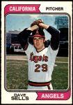 1974 O-Pee-Chee #37  Dave Sells  Front Thumbnail