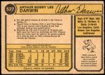 1974 O-Pee-Chee #527  Bobby Darwin  Back Thumbnail