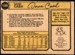 1974 O-Pee-Chee #198  Dave Cash  Back Thumbnail