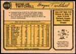 1974 O-Pee-Chee #419  Wayne Twitchell  Back Thumbnail
