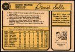 1974 O-Pee-Chee #37  Dave Sells  Back Thumbnail