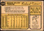 1974 O-Pee-Chee #231  Dick Tidrow  Back Thumbnail