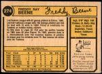 1974 O-Pee-Chee #274  Fred Beene  Back Thumbnail