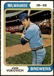 1974 O-Pee-Chee #349  John Vukovich  Front Thumbnail