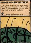 1966 Topps Batman Blue Bat Puzzle Back #42   Inhospitable Hatter! Back Thumbnail