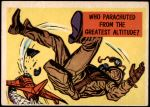 1957 Topps Isolation Booth #64   Who Parachuted from the Greatest Altitude Front Thumbnail