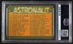1963 Topps Astronauts #55   Astronaut Checklist Back Thumbnail