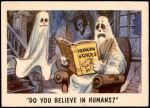1959 You'll Die Laughing #56   Do you believe in humans? Front Thumbnail
