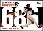 2005 Topps Barry Bonds HR History #686   -  Barry Bonds Home Run 686 Front Thumbnail