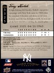 2008 Upper Deck Yankee Stadium Legacy #3325  Tony Kubek  Back Thumbnail
