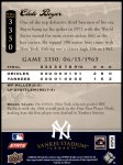 2008 Upper Deck Yankee Stadium Legacy #3350  Clete Boyer  Back Thumbnail