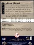 2008 Upper Deck Yankee Stadium Legacy #6733  Jason Giambi  Back Thumbnail