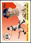 2006 Topps Mantle HR History #514   -  Mickey Mantle Home Run 514 Front Thumbnail