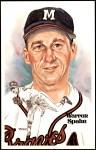 1980 Perez-Steele Hall of Fame Postcards #139  Warren Spahn  Front Thumbnail
