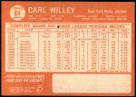 1964 Topps #84  Carlton Willey  Back Thumbnail