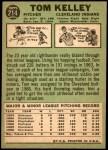 1967 Topps #214  Tom Kelley  Back Thumbnail