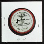 1963 Salada Metal Coins #23  Roberto Clemente  Back Thumbnail
