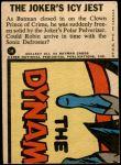1966 Topps Batman Blue Bat Puzzle Back #1   The Joker's Icy Jest Back Thumbnail