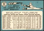1965 Topps #382  J.C. Martin  Back Thumbnail