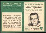 1966 Philadelphia #64  Danny Villanueva  Back Thumbnail