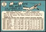 1965 Topps #31  Mike White  Back Thumbnail