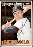 1967 Topps #184  George Thomas  Front Thumbnail