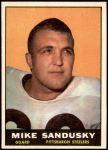 1961 Topps #109  Mike Sandusky  Front Thumbnail