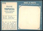 1961 Topps #193  Frank Tripucka  Back Thumbnail