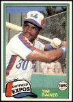 1981 Topps Traded #816 T Tim Raines  Front Thumbnail