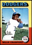 1975 Topps Mini #186  Willie Crawford  Front Thumbnail